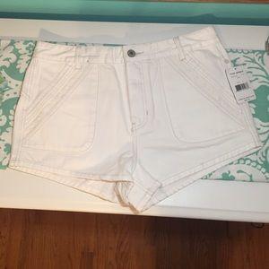 Free People NEW $88 White Denim Shorts